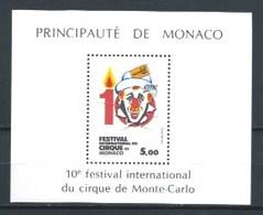 MONACO 1984 YT-29 ** FESTIVAL INTERNACIONAL DEL CIRCO - Bloques