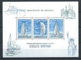 MONACO 1985 YT-32 ** CARRERA TRNSATLANTICA MONACO/Nueva York - Bloques