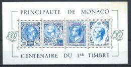 MONACO 1985 YT-33 ** CENTENARIO 1º SELLO DE MONACO - Bloques