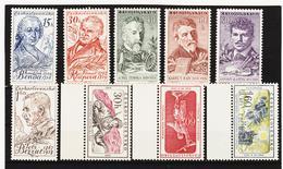 Post216 TSCHECHOSLOWAKEI CSSR 1959 MICHL 1140/45 + 1149/51 ** Postfrisch SIEHE ABBILDUNG - Tschechoslowakei/CSSR
