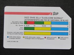 ITALIA 1161 C&C - FASCE ORARIE AA MANTEGAZZA 31.12.92 LIRE 5000 - USATA USED - Italia