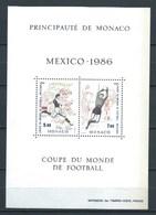 MONACO 1986 YT-35 ** COPA DEL MUNDO DE FUTBOL. MEXICO - Bloques