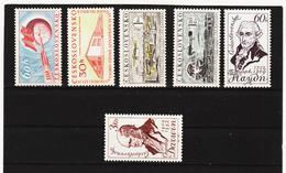 Post217 TSCHECHOSLOWAKEI CSSR 1959 MICHL 1152 + 1158/62 ** Postfrisch SIEHE ABBILDUNG - Tschechoslowakei/CSSR