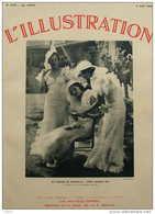 Au Pesage De Chantilly - Trois Graces - Page Original 1934 - Documents Historiques
