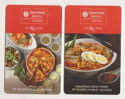 Genting Hotel Jurong Singapore Keycard (2 Cards) - Hotelkarten