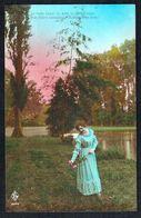 FEMME - CP - Jeune Femme Au Bord D'un étang - Circulé - Circulated - Gelaufen - 1919. - Femmes
