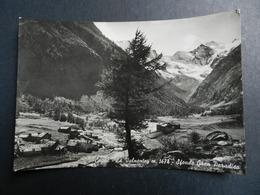 19933) COGNE LA VALNONTEY SFONDO GRAN PARADISO VIAGGIATA 1960 - Italia