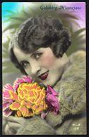 FEMME - CP - Jeune Femme Avec Bouquet De Fleurs - Circulé - Circulated - Gelaufen - 1937. - Femmes