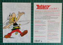 Uderzo - Astérix à La BNF - 2014 - Cartoline Postali