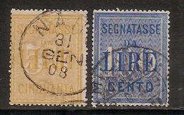 (Fb).Regno.V.E.III.Segnatasse.1903.Serie Due Val Usati (530-16) - 1900-44 Victor Emmanuel III