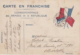 FRANCE 1915 CARTE DE FRANC HISE MILITAIRE - Poststempel (Briefe)