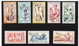 Post220 TSCHECHOSLOWAKEI CSSR 1960 MICHL 1176/78 + 1194/98 ** Postfrisch SIEHE ABBILDUNG - Tschechoslowakei/CSSR