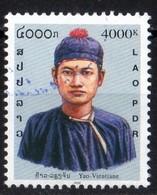 Laos 2001 Costumes Traditionnels Hommes Yao Vientiane  4000 Kip Used Oblitéré  N° 1413P - Laos