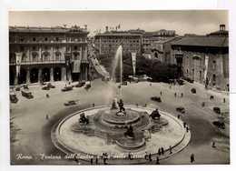 - CPSM ROMA (Italie) - Fontana Dell' Esedra E Via Delle Terme - Ediz. Enrico Verdesi - - Places & Squares