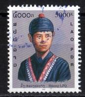 Laos 2001 Costumes Traditionnels Hommes Hmong LPQ  5000 Kip Used Oblitéré  N° 1413Q - Laos