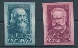 1952. Leonardo Da Vinci And Victor Hugo - L - Imperforate - Hungary