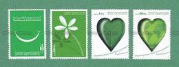 2001 UAE Emirates Emirats Arabes Arabi - DEVELOPMENT & ENVIRONMENT 4v MNH ** - Smile, Flower, Heart, Map - As Scan - Pollution