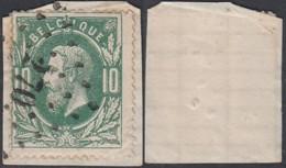 """Belgique - COB 30 Oblitération LP """"270"""" Nieuport (DD) DC3215 - 1869-1883 Leopold II"""