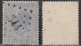 """Belgique - COB 18 Oblitération LP """"344"""" St Bernard (DD) DC3233 - 1865-1866 Profile Left"""