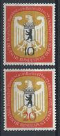 Allemagne Berlin N°114/15* (MH) 1955 - Session Du Bundestag à Berlin - [5] Berlin