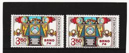 Post173 TSCHECHOSLOWAKEI CSSR 1974 MICHL 2184 A + B ** Postfrisch SIEHE ABBILDUNG - Tschechoslowakei/CSSR