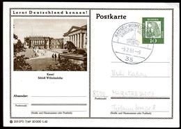 98366) BRD - P 72 - 7/49 - Ortsgleich OO Gestempelt - 3500 Kassel - Schloß Wilhelmshöhe - Illustrated Postcards - Used