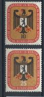 Allemagne Berlin N°121/22* (MH) 1956 - Réunion à Berlin Du Conseil Fédéral - [5] Berlin