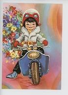 Jeune Fille - Scooter, Vespa - Borduurwerk