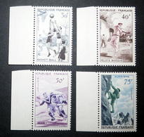 FRANCE 1956 N°1072 À 1075 ** (SÉRIE DES SPORTS) - France