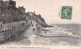 Villerville (14) - La Descente De La Plage à Marée Haute - Villerville