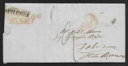 DA NAPOLI A FABRIANO - 23.9.1847. - Italia