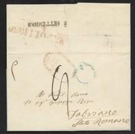 DA NAPOLI A FABRIANO - 3.9.1850. - Italia