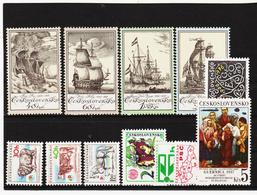 Post175 TSCHECHOSLOWAKEI CSSR 1976 MICHL 2330/34 + 2338/42 ** Postfrisch SIEHE ABBILDUNG - Tschechoslowakei/CSSR