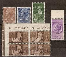 (Fb).Repubblica.1955.Lotto 4 Serie Nuove,gomma Integra (234-18) - 1946-.. République
