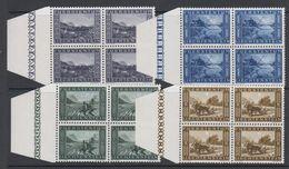 Liechtenstein 1943 Binnenkanal 4v Bl Of 4  ** Mnh (42727A) - Gebruikt