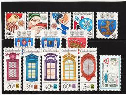 Post176 TSCHECHOSLOWAKEI CSSR 1977 MICHL 2356/69 ** Postfrisch SIEHE ABBILDUNG - Tschechoslowakei/CSSR