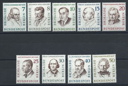 Allemagne Berlin N°144/51* (MH) 1957/59 - Berlinois Célèbres - [5] Berlin