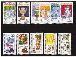 Post177 TSCHECHOSLOWAKEI CSSR 1977 MICHL 2381/86 + 2391/95 ** Postfrisch SIEHE ABBILDUNG - Tschechoslowakei/CSSR