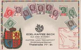 Philatelie Litho AK Fiji Fidschi Viti Suva Briefmarke Stamp Timbre Ozeanien Polynesien Polynesie Colony Edel Kaffee Beck - Fiji