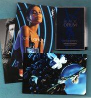 YVES SAINT LAURENT Black Opium Eau De Parfum Tube Sur Carte + Trois Cartes - Echantillons (tubes Sur Carte)