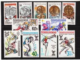 Post178 TSCHECHOSLOWAKEI CSSR 1978 MICHL 2427/31 + 2434/39 ** Postfrisch SIEHE ABBILDUNG - Tschechoslowakei/CSSR