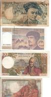10 Francs 1968 + 20 Francs 1942+1993 + 50 Francs 1988  Lotto 1014 - Francia