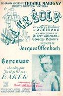 JOSEPHINE BAKER - BERCEUSE - DE L'OPERETTE LA CREOLE - 1934 - MUSIQUE J. OFFENBACH - TRES BON ETAT - - Musique & Instruments