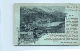 SUISSE --  Un Salut De St MORITZ Bad - GR Grisons