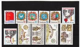 Post179 TSCHECHOSLOWAKEI CSSR 1982 MICHL 2647+2651/54+2667/68+2671/74** Postfrisch SIEHE ABBILDUNG - Tschechoslowakei/CSSR