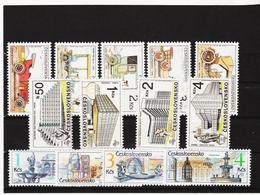 Post180 TSCHECHOSLOWAKEI CSSR 1988 MICHL 2947/55 + 2961/64 ** Postfrisch SIEHE ABBILDUNG - Tschechoslowakei/CSSR
