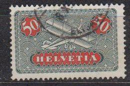 Switzerland 1923 Airmail 50Rp Geriffelt Papier Used (42728B) - Luchtpostzegels