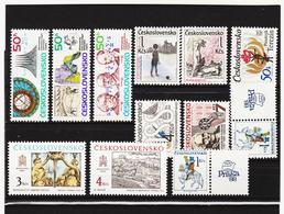 Post181 TSCHECHOSLOWAKEI CSSR 1988 MICHL 2916/20 + 2925/30  ** Postfrisch SIEHE ABBILDUNG - Tschechoslowakei/CSSR
