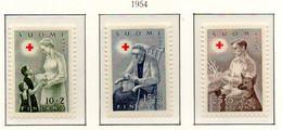 PIA - FINLANDIA - 1953 : Pro Croce Rossa - Attività Assistenziali -  (YV  405-07) - Primo Soccorso