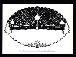 Künstler AK Scherenschnitt: Elisabeth Roth,Motiv Weihnachten Karte N.gel -7- - Scherenschnitt - Silhouette